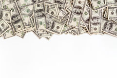 Achtergrond van $-100 met ruimte voor tekst Stock Foto's