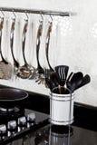 Achtergrond van moderne keuken Stock Foto