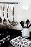 Achtergrond van moderne keuken Royalty-vrije Stock Foto