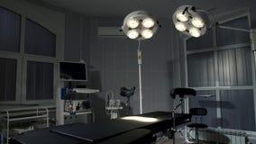 Achtergrond van moderne werkende ruimte bij het ziekenhuisnoodsituatie stock videobeelden