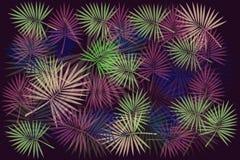 Achtergrond van multi-colored bladeren Stock Afbeelding