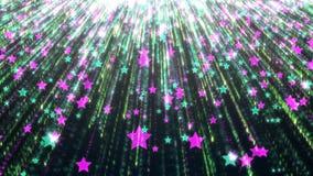 Achtergrond van multicolored stellaire regen met heldere elementen en details royalty-vrije illustratie