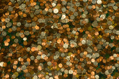 Achtergrond van muntstukken Stock Fotografie