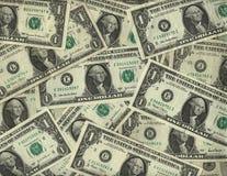 Achtergrond van één dollarrekeningen Stock Afbeelding