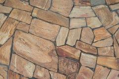 Achtergrond van natuursteenplakken van diverse vormen op bovenkant stock foto