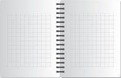 Achtergrond van notitieboekje in vierkant op zwart SP Royalty-vrije Stock Fotografie