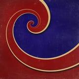 Achtergrond van oneindigheids de spiraalvormige grunge Royalty-vrije Illustratie