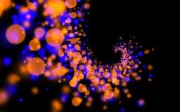 Achtergrond van oneindigheids de spiraalvormige lichten Vector Illustratie