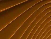 Achtergrond van oranje abstracte golven render Stock Fotografie