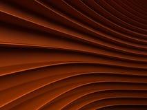 Achtergrond van oranje abstracte golven render Royalty-vrije Stock Afbeeldingen