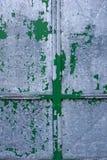 Achtergrond van oud groen grijs metaal stock fotografie