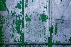 Achtergrond van oud groen grijs metaal stock foto