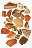 Achtergrond van oude ceramische artefacten Royalty-vrije Stock Foto's