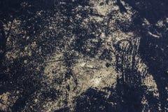 Achtergrond van oude gebarsten verf Grote barsten op de oppervlakte Sluit de lagen; velen schilderen en document de lagen geven e vector illustratie