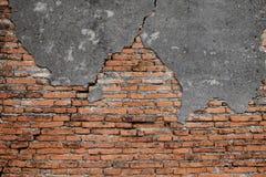 Achtergrond van oude rode bakstenen muurtextuur Stock Fotografie