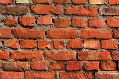 Achtergrond van oude rode muur van donkere bakstenen Royalty-vrije Stock Fotografie