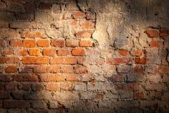 Achtergrond van oude uitstekende bakstenen muur Royalty-vrije Stock Fotografie