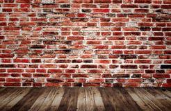 Achtergrond van oude uitstekende bakstenen muur Royalty-vrije Stock Foto's