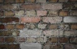 Achtergrond van oude uitstekende vuile bakstenen muur Stock Afbeelding