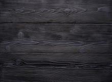 Achtergrond van oude uitstekende zwarte houten raad Sterk versleten en gekrast royalty-vrije stock foto's