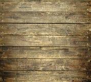 Achtergrond van oude versleten houten planken met spijkers Stock Afbeelding