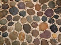 Achtergrond van ovale stenen Royalty-vrije Stock Foto's