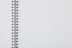 Achtergrond van pagina van oefenboek Stock Foto