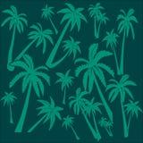 Achtergrond van palmen stock illustratie