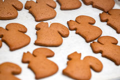 Achtergrond van peperkoekkoekjes dat wordt gemaakt Royalty-vrije Stock Afbeelding