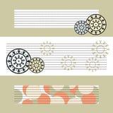 Achtergrond van prentbriefkaaren met abstracte elementen. Royalty-vrije Stock Foto