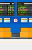 Achtergrond van programmaraad in luchthaven Stock Foto