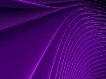 Achtergrond van purpere abstracte golven render Royalty-vrije Stock Foto's