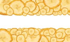 Achtergrond van rijpe bananen Royalty-vrije Stock Afbeeldingen