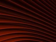 Achtergrond van rode abstracte golven render Stock Afbeelding