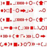 Achtergrond van rode geometrische vormen op wit royalty-vrije illustratie