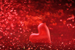 Achtergrond van rode harten Stock Fotografie