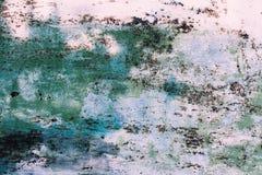 Achtergrond van roestige metaaltextuur Behang van oude roestige omheining met schilverf royalty-vrije stock foto