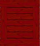 Achtergrond van roodbruine raad met houten korrel Stock Fotografie