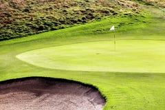 Achtergrond van Ryder Cup France van de golfcursus de groene Royalty-vrije Stock Fotografie