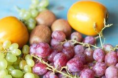 Achtergrond van sappige vruchten stock foto's