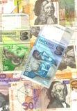 Achtergrond van slavic bankbiljetten Royalty-vrije Stock Afbeeldingen