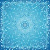 Achtergrond van sneeuwvlok, vecto Stock Afbeelding