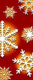 Achtergrond van sneeuwvlokken Stock Foto's