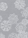 Achtergrond van sneeuwvlokken Royalty-vrije Stock Afbeeldingen