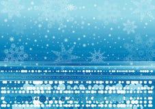 Achtergrond van sneeuwvlokken Stock Foto