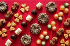 Achtergrond van snoepjes! Stock Foto