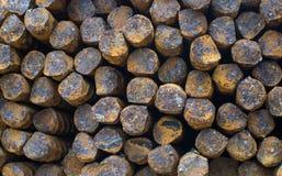 Achtergrond van staal de roestige bars Royalty-vrije Stock Afbeelding