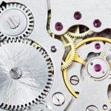 Achtergrond van staalbeweging van uitstekend horloge Stock Afbeeldingen
