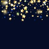 Achtergrond van ster de dalende confettien stock illustratie