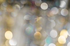 Achtergrond van sterk vage lichten van slingers stock foto's